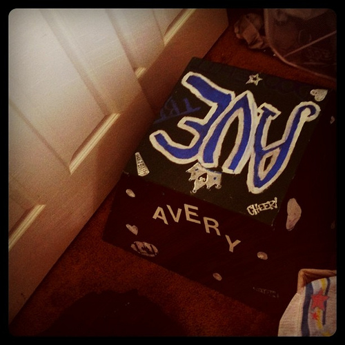 Avery's cheerleader box