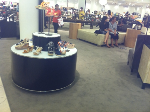 Nordie's shoe department