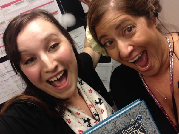 Heather and I having fun at work.