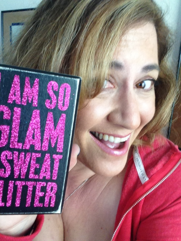 so glam I sweat glitter