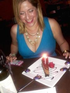 sharing a piece of birthday bonding